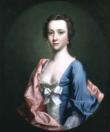 Portrait of a lady traditionally said to be Jenny Cameron of Lochiel | Allan Ramsay | oil painting