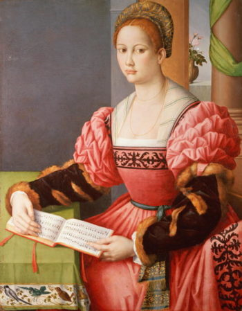 Portrait of a Lady | Francesco Ubertini Il Bacchiacca | oil painting