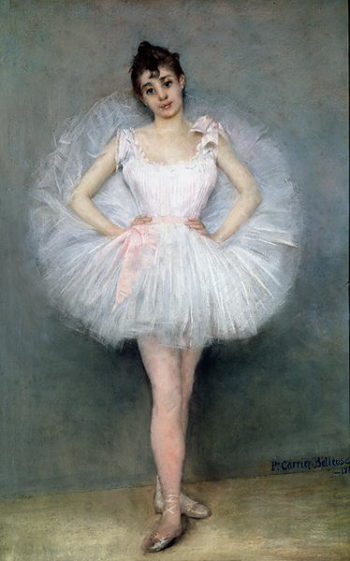Portrait of a Young Ballerina   Pierre Carrier Belleuse   oil painting