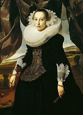 Portrait of a Young Dutch Woman   Thomas de Keyser   oil painting