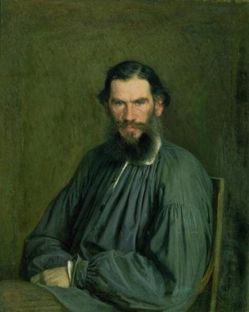 Portrait of Count Lev Nikolaevich Tolstoy | Ivan Nikolaevich Kramskoy | oil painting