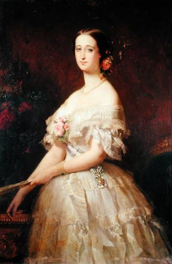 Portrait of Empress Eugenie | Edouard Louis Dubufe | oil painting