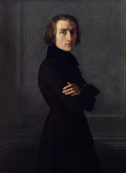 Portrait of Franz Liszt | Henri Lehmann | oil painting