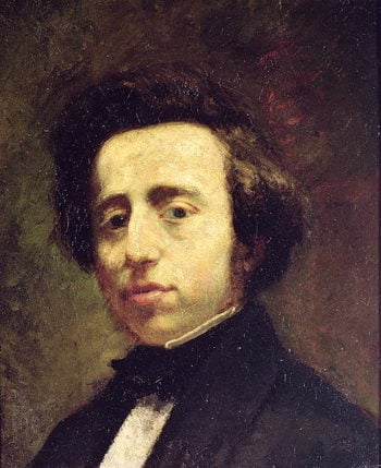 Portrait of Frederic Chopin | Thomas Couture | oil painting