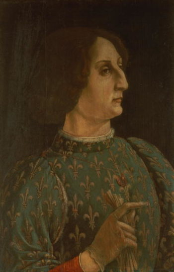 Portrait of Galeazzo Mario Sforza | Piero del Pollaiolo | oil painting