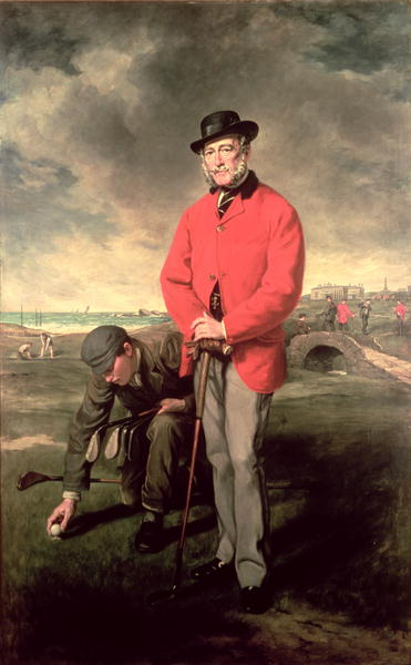 Portrait of John Whyte Melville of Bennochy and Strathkinness Captain of the Club 1823 | Sir Francis Grant | oil painting