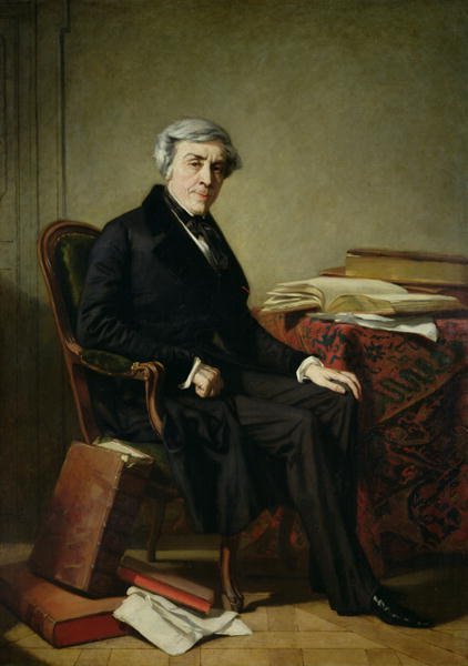 Portrait of Jules Michelet | Thomas Couture | oil painting