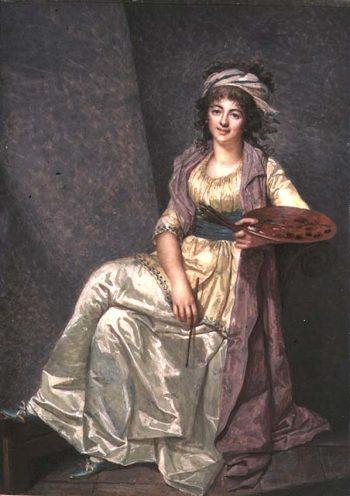 Portrait of Louise Elizabeth Vigee Lebrun with her Palette 1793 | Francois Dumont | oil painting