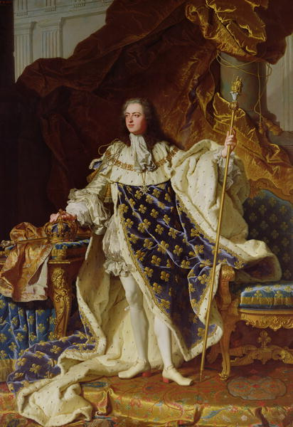 Portrait of Louis XV | Hyacinthe Rigaud | oil painting