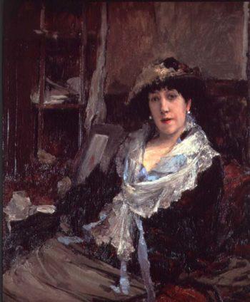 Portrait of Madame Jeanne Samary | Jules Bastien Lepage | oil painting