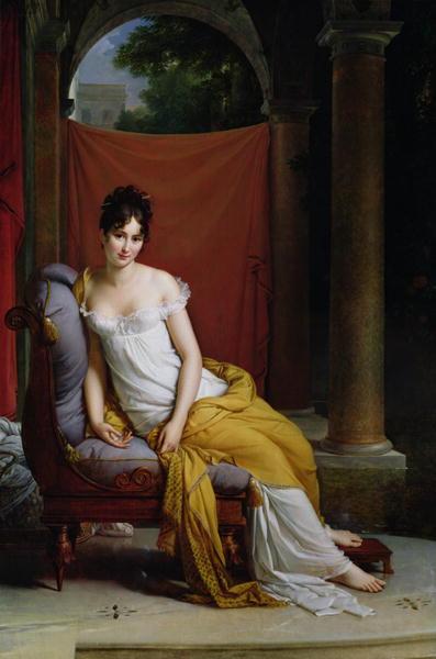 Portrait of Madame Recamier   Francois Pascal Simon Baron Gerard   oil painting