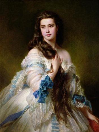 Portrait of Madame Rimsky Korsakov   Franz Xavier Winterhalter   oil painting