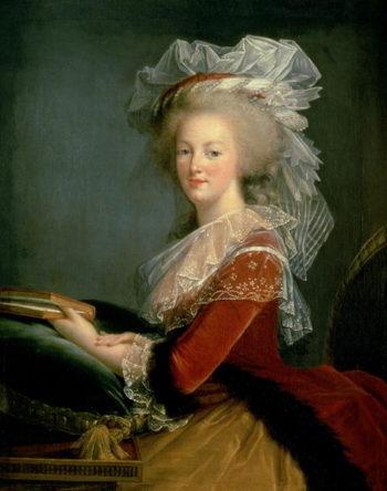 Portrait of Marie Antoinette   Elisabeth Louise Vigee Lebrun   oil painting