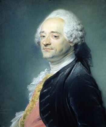 Portrait of Maurice Quentin de la Tour | Jean Baptiste Perroneau | oil painting
