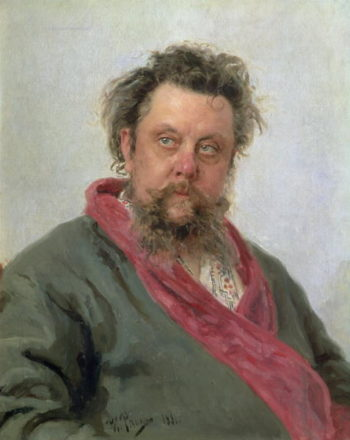 Portrait of Modest Petrovich Moussorgsky | Ilya Efimovich Repin | oil painting