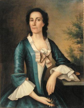 Portrait of Mrs Thomas Shippard   Joseph Badger   oil painting
