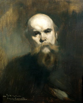 Portrait of Paul Verlaine | Eugene Carriere | oil painting