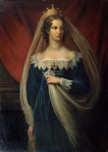 Portrait of Princess Charlotte von Preussen | Franz Gerhard von Kugelgen | oil painting