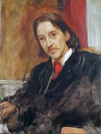 Portrait of Robert Louis Stevenson | Sir William Blake Richmond | oil painting