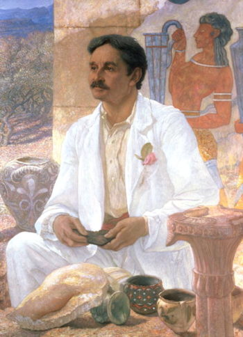 Portrait of Sir Arthur John Evans | Sir William Blake Richmond | oil painting