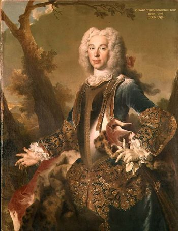 Portrait of Sir Robert Throckmorton 4th Battalion | Nicolas de Largilliere | oil painting