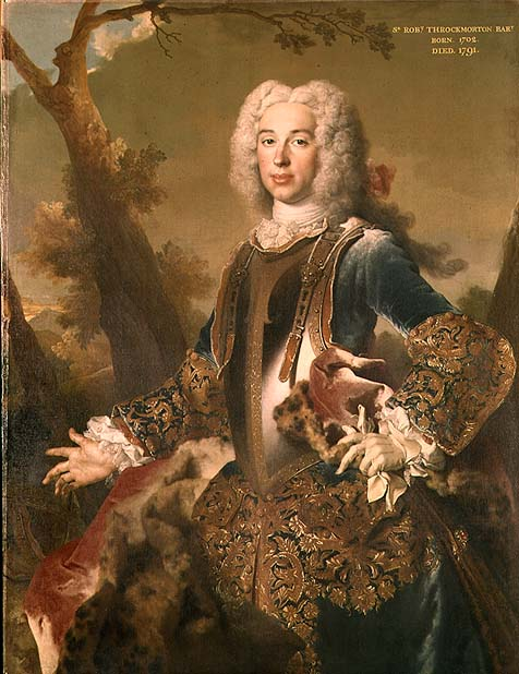 Portrait of Sir Robert Throckmorton 4th Battalion | Nicolas de Largilliere | oil painting