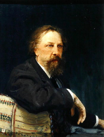 Portrait of the Author Count Alexey K Tolstoy | Ilya Efimovich Repin | oil painting