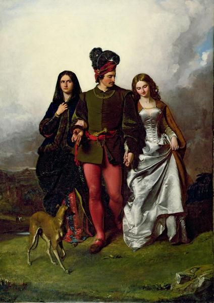 The Cruel Sister 1851 | John Faed | oil painting