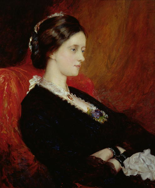 Portrait of The Hon Mrs Emily Meynell Ingram | Sir William Blake Richmond | oil painting