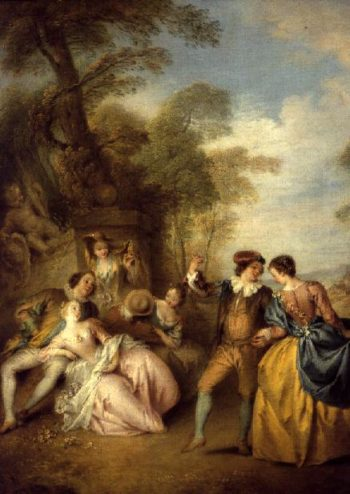 The Dance 1730s | Jean Baptiste Joseph Pater | oil painting