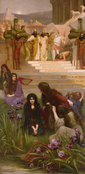 The Daughters of Judah in Babylon | Herbert Gustave Schmalz | oil painting