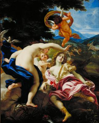 The Death of Adonis 1683 85   Il Baciccio   oil painting