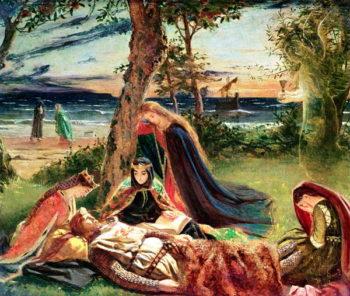 The Death of Arthur 1861 | James Archer | oil painting