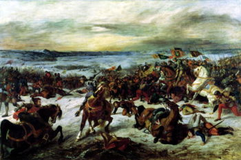 The Death of Charles the Bold | Eugene Delacroix | oil painting