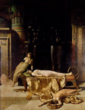 The Death of Cleopatra | John Collier | oil painting