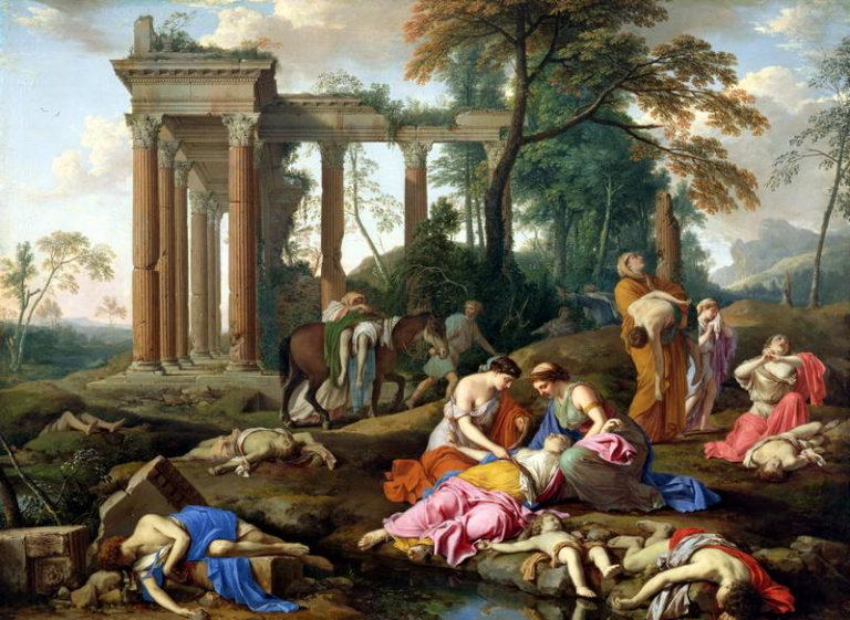 The Death of the Children of Bethel 1653 | Laurent de La Hyre | oil painting