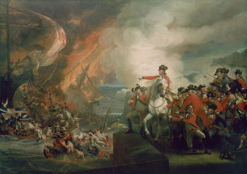 The Defeat of the Floating Batteries at Gibraltar September 1782 1783 91 | John Singleton Copley | oil painting