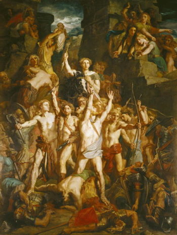 The Defence of Gaul 1855   Theodore Chasseriau   oil painting