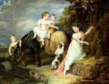 Portraits of the Children of the Rev Joseph Arkwright of Mark Hall Essex 1826   John Hayter   oil painting