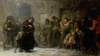 Applicants for Admission to a Casual Ward 1874 | Sir Samuel Luke Fildes | oil painting