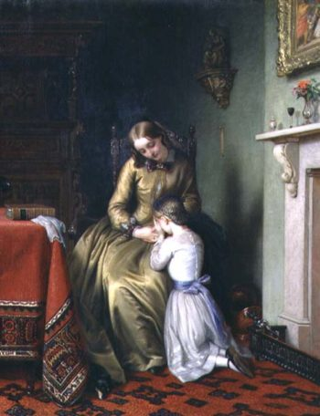Prayertime 1854 | Charles West Cope | oil painting