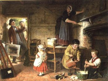 The Dismayed Artist 1866 | Frederick Daniel Hardy | oil painting