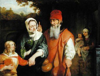 The Dismissal of Hagar 1660s | Barent Fabritius | oil painting