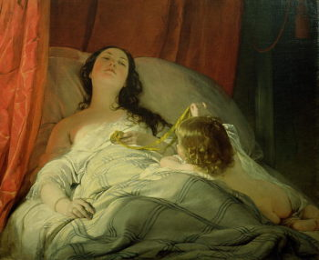 The Drowsy One | Friedrich von Amerling | oil painting
