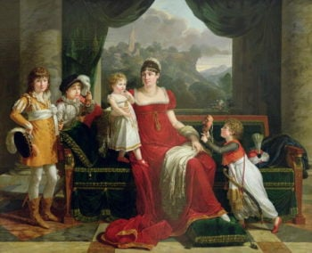 The Duchess of Feltre and her Children 1810 | Francois Xavier Fabre | oil painting