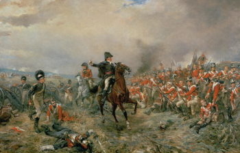 The Duke of Wellington at Waterloo | Robert Alexander Hillingford | oil painting