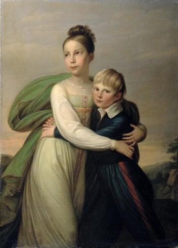 Prince Albrecht and Princess Louise 1817 | Franz Gerhard von Kugelgen | oil painting
