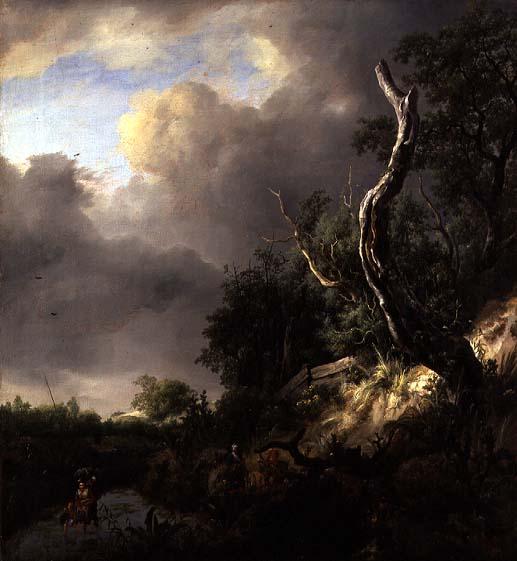 The Dunes near Haarlem   Jacob Isaaksz or Isaacksz van Ruisdael   oil painting