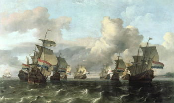 The Dutch Fleet of the India Company 1675 | Ludolf Backhuysen | oil painting