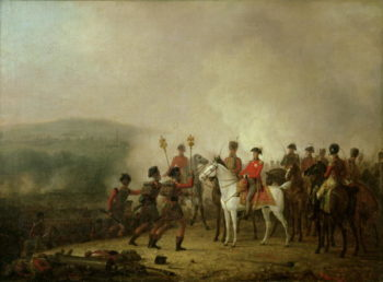 The Eagle Standards Taken at Waterloo Returned to Wellington 18th June 1815 | Mathieu Ignace van Bree | oil painting